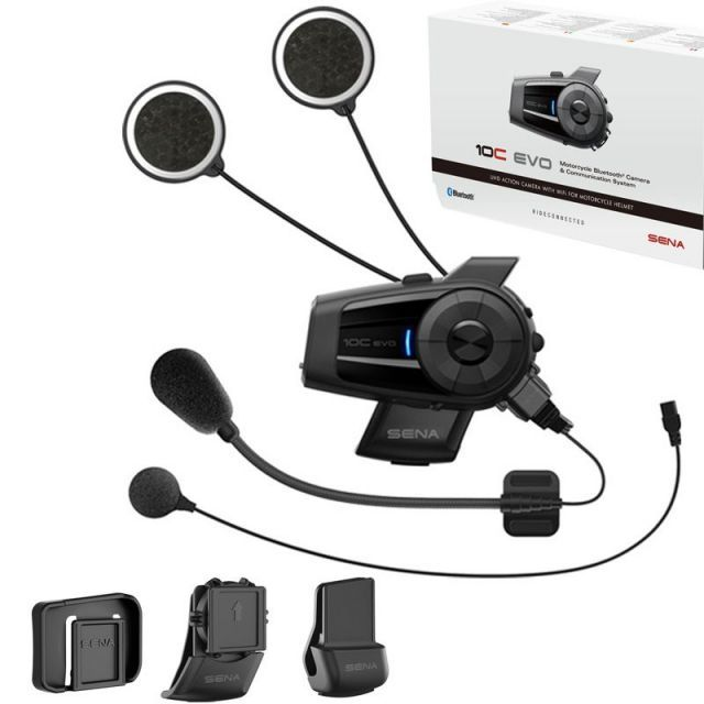 Sena 10C Evo 4K Camera Motorcycle 4-Way Communication System