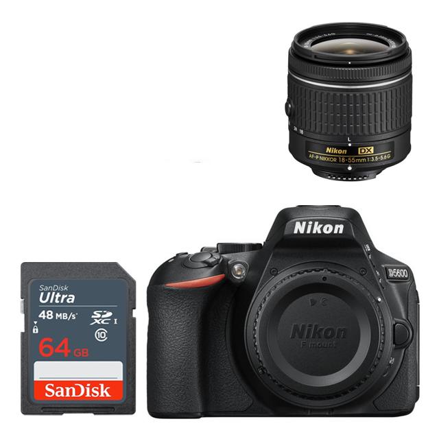 Nikon D5600 + 18-55mm +64GB DSLR - Express Delivery