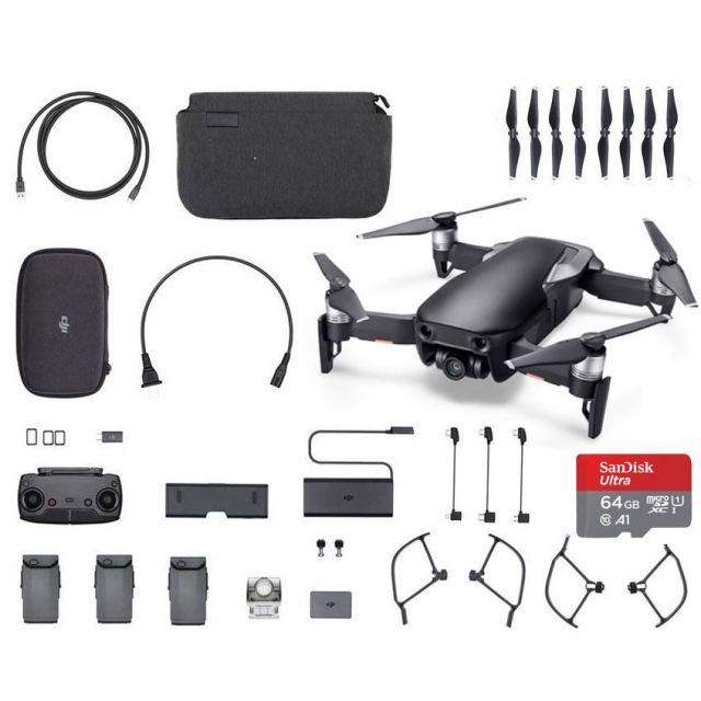 DJI Mavic Air Combo +64GB Black Fly More Drone - SmartCapture Quadcopter