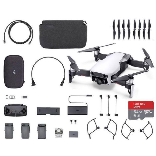 DJI Mavic Air Combo +64GB White Fly More  Drone - SmartCapture Quadcopter