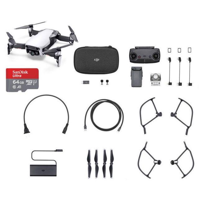 DJI Mavic Air +64GB White Drone - SmartCapture Quadcopter