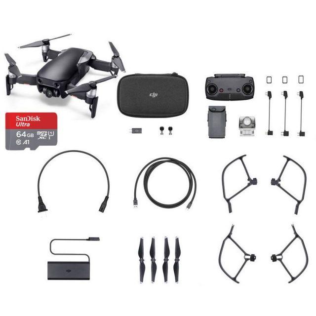 DJI Mavic Air +64GB Black Drone - SmartCapture Quadcopter