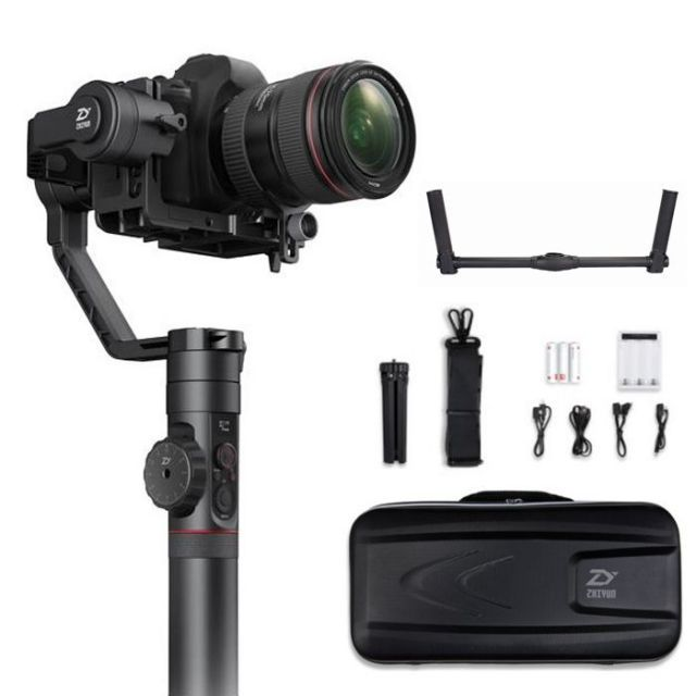 Zhiyun Crane 2 + Dual Handle Grip 3-Axis Gimbal Camera Stabilizer