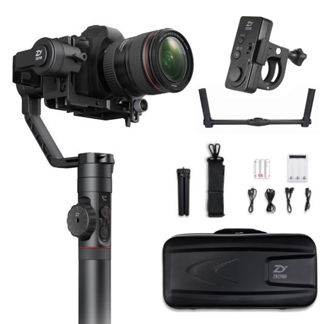 Zhiyun Crane 2 + Dual Handle Grip +WiFi Remote 3-Axis Gimbal Camera Stabilizer