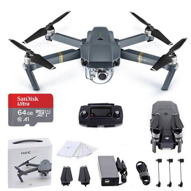 DJI Mavic Pro + 64GB Drone Quadcopter