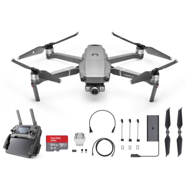 DJI Mavic 2 Zoom + 64GB Drone Quadcopter