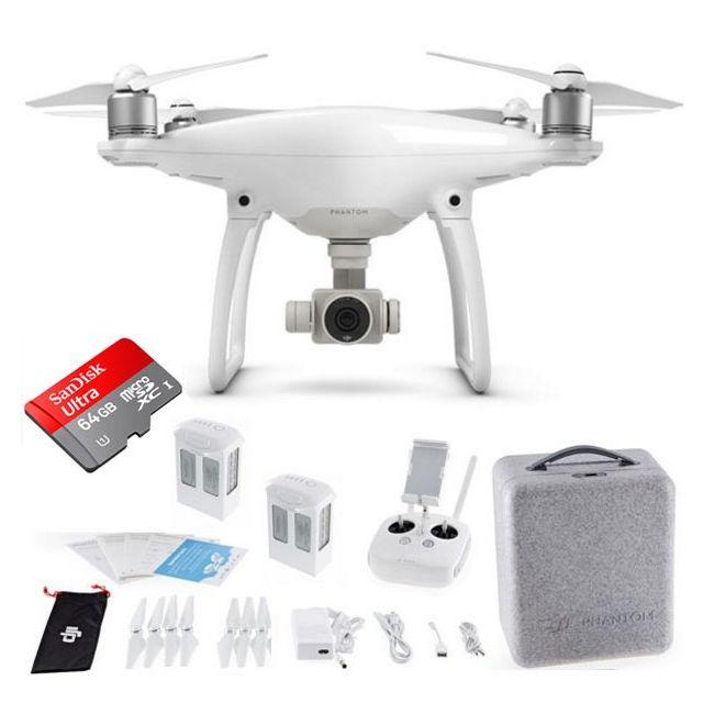 DJI Phantom 4 + Extra Battery +64GB Sandisk Drone Quadcopter Bundle