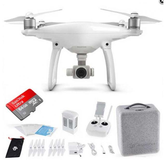 DJI Phantom 4 + 64GB Sandisk Quadcopter Drone OPEN BOX