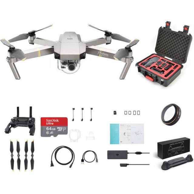 Mavic Pro Platinum +Case +64GB +UV Ultimate Drone Bundle DJI