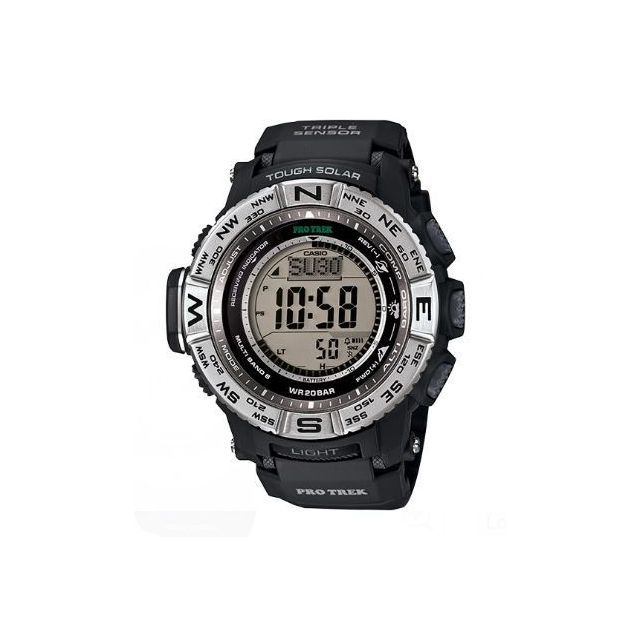 Casio PRW3500-1 Pro Trek Pathfinder Solar Triple Sensor Mens Watch