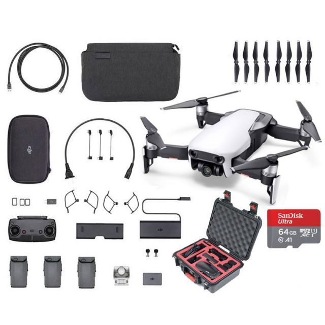 Mavic Air Combo +Case +64GB White Fly More Drone Ultimate Quadcopter DJI
