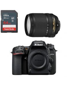Nikon D7500 +18-140mm Lens f/3.5-5.6G ED VR DSLR Kit +64GB