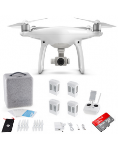 DJI Phantom 4 with 4 Batteries +64GB Sandisk +Charging Hub Drone Quadcopter Bundle