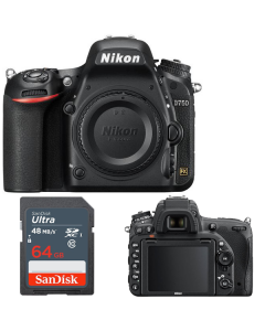 Nikon D750 DSLR Camera Body +64GB - Express Delivery