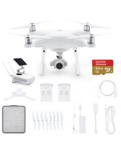 DJI Phantom 4 Advanced+ Plus w. LCD Display + 2 Extra Batteries +64GB