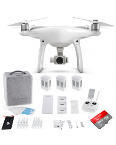 DJI Phantom 4 with 3 Batteries + Charging Hub + 64GB Drone Quadcopter