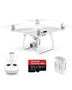 DJI Phantom 4 Pro w. extra Battery & 64GB Extreme Card Quadcopter Open Box