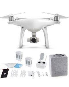 DJI Phantom 4 + Extra Battery Drone Quadcopter Bundle